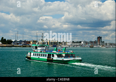 The Gosport Ferry crossing from Portsmouth Harbour Railway station to Gosport - Stock Photo