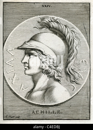 Classical portrait of Achilles a Greek hero of the Trojan War, the central character and the greatest warrior of - Stock Photo