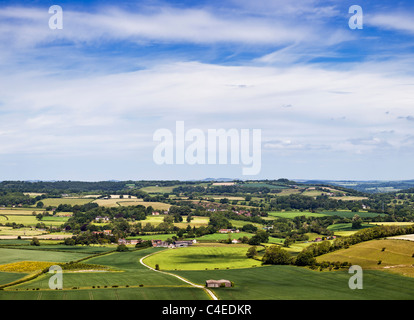 Dorset landscape at Donhead Hollow, Dorset, England UK - Stock Photo