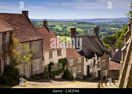 Gold Hill, Shaftesbury, Dorset, England, UK - Stock Photo