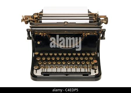 Typewriter, Cut Out. - Stock Photo
