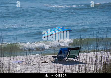 Gulf beaches along Florida's Panhandle at St. Joseph Peninsula State Park. - Stock Photo