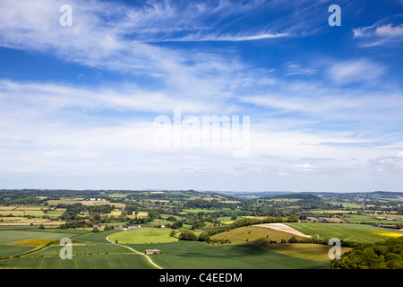Landscape view of the Dorset countryside at Donhead Hollow, Dorset, England UK - Stock Photo