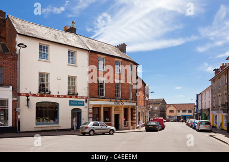High Street, Shaftesbury, Dorset, England UK - Stock Photo
