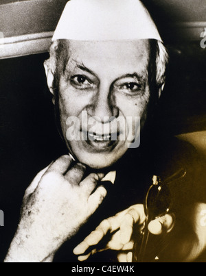 Jawaharlal Nehru (1889-1964). Indian statesman who was the first and longest-serving Prime Minister of India. - Stock Photo