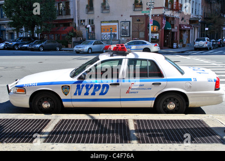A New York Police car on the street. - Stock Photo