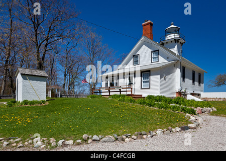The Old Mission Point Lighthouse near Traverse City, Michigan, USA. - Stock Photo