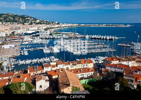 Cote d'Azur, Cannes Harbor - Stock Photo
