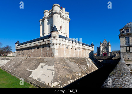 Europe, France, Vincennes, Chateau de Vincennes - Stock Photo