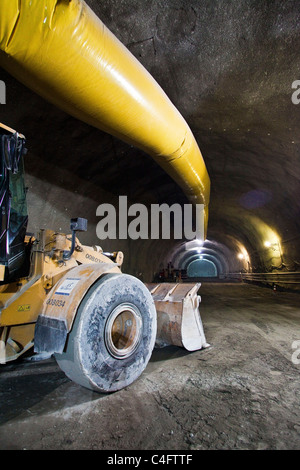 April 2011 - Construction of Rio de Janeiro line 4 subway, as part of the city preparation for the 2016 Olympic - Stock Photo