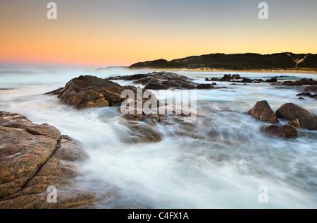 Sunrise at Prevelly Beach in Margaret River, Western Australia - Stock Photo