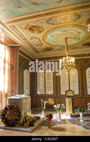 Russia , St Petersburg Cathedral of SS Peter & Paul built 1733 chapel of last tsar Nicholas II family Petropavlovskiy - Stock Photo