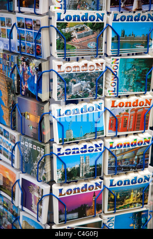 London Postcards Rack - Stock Photo