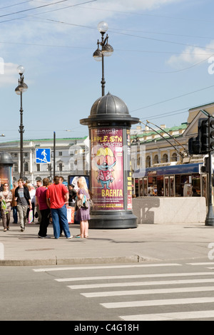 Prospekt st petersburg road and book by gogol