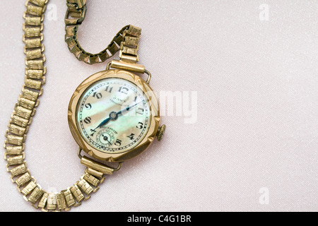 Old gold watch - Stock Photo