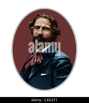 Gustave Charpentier 1860 1956 French Composer Illustration - Stock Photo