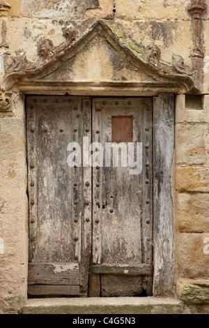 a doorway in Saint-Félix-Lauragais, Haute-Garonne, Midi-Pyrenees, France - Stock Photo