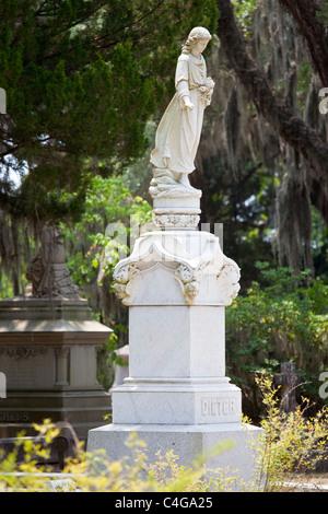 Bonaventure Cemetery, Savannah, Georgia - Stock Photo