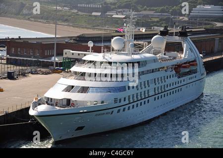 Seabourne Pride Cruise ship in port, Dover, Kent, England, United Kingdom - Stock Photo