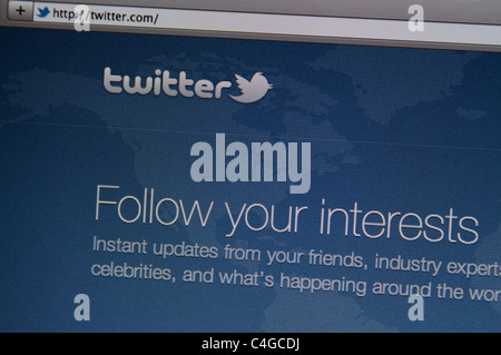 Twitter Online Website splash screenshot - Stock Photo