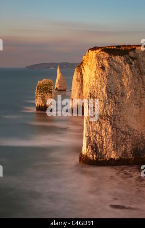 Old Harry Rocks, Handfast Point, Studland, Jurassic Coast, Dorset, England - Stock Photo