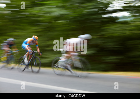 the Tour de France passes through nr Revel, Midi-Pyrenees, Languedoc-Roussillon, France - Stock Photo