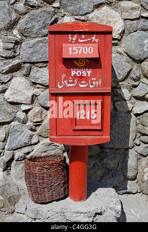 Pakistan - Hunza Valley - Karimabad - post box - Stock Photo