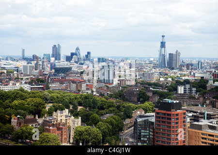 City of London as seen from the North West - Stock Photo