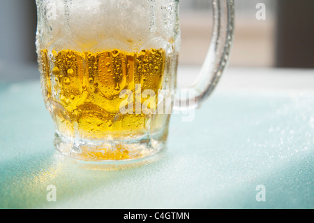 Jug of beer. Close view. - Stock Photo