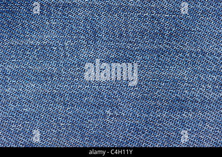 texture formed by the fabric of an old pair of jeans - Stock Photo
