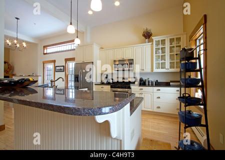 Interior of upscale condominium home, real estate house - Stock Photo