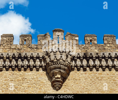 Spain. Community of Madrid. Manzanares el Real. Royal Castle, built in 1475 by order of Diego Hurtado de Mendoza. - Stock Photo