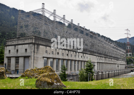 Bonneville Lock and Dam Powerhouse National Historic Landmark - Stock Photo