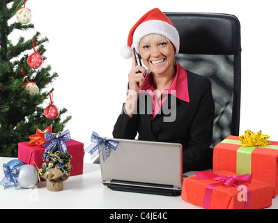 Secretary of Santa Claus - Stock Photo