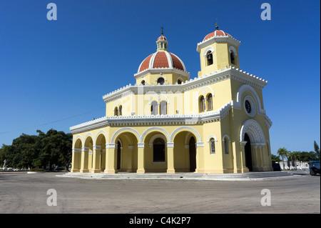 Main cemetery chapel located in the centre of the Colon Cemetery (Cementerio de Cristóbal Colón), Havana, Cuba - Stock Photo