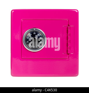 Pink safe bank - Stock Photo