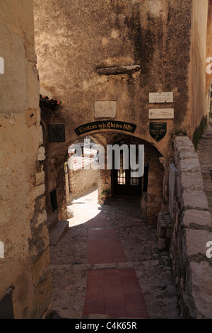 Picturesque hilltop village of Eze netween Nice and Monte Carlo on the Cote d'Azur France - Stock Photo