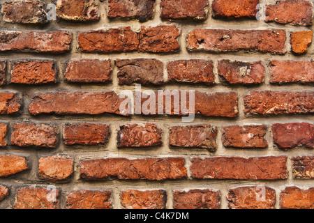 Detailansicht einer Ziegelmauer | Detail photo of a brick wall - Stock Photo