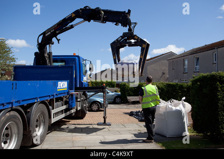 Home delivery to the door for garden DIY Montrose Scotland - Stock Photo