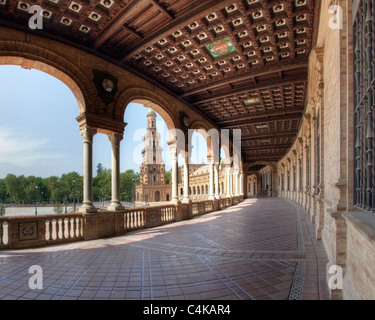 ES - ANDALUSIA: Seville's famous Plaza de Espana - Stock Photo