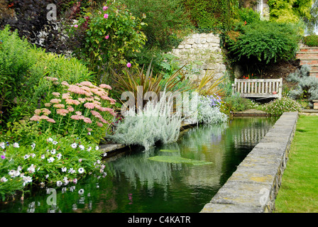 Garden pond and rockery stock photo royalty free image for Ornamental garden ponds