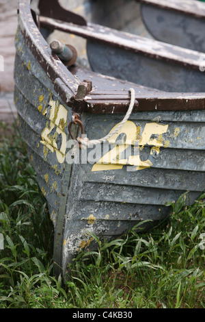 Anglers boats at Blithfield reservoir - Stock Photo