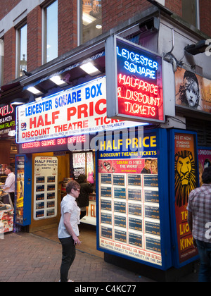 Half price theater tickets,Leicester Square ,London,England - Stock Photo