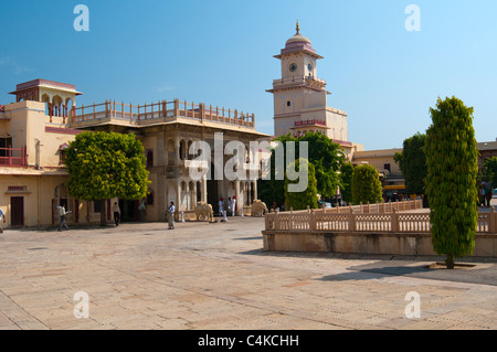 City Palace of Jai Singh II,Jaipur, Rajasthan, India, South Asia - Stock Photo