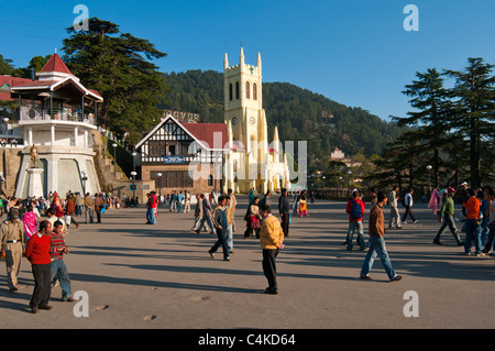 St. Micheals church, Shimla, north-west Himalayas, Himachal Pradesh, India, Asia, - Stock Photo