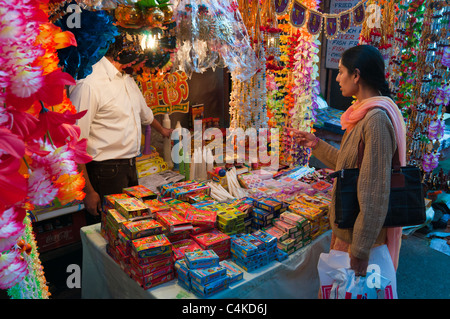 Night scene of Street in Shimla. Himachal Pradesh. India. - Stock Photo