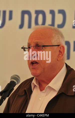 Reuven 'Rubi' Rivlin (born 9 September 1939) The speaker of the Knesset - Stock Photo