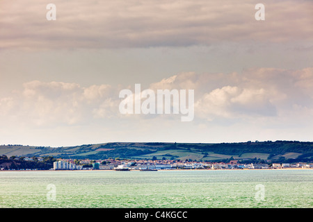 Sandown seafront, Isle of Wight, England, UK - Stock Photo