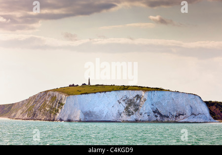 Isle of Wight, Whitecliff and Culver Down, England, UK from the sea - Stock Photo