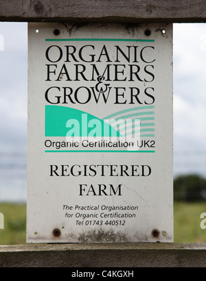 An organic farm in the U.K. - Stock Photo